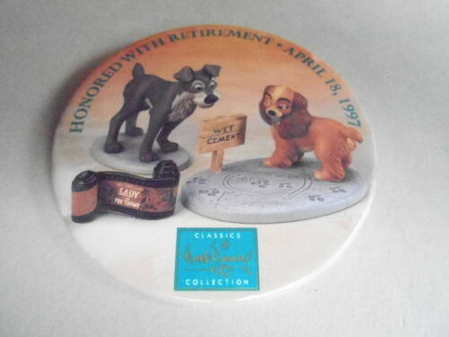 "VINTAGE 3"" PROMO PINBACK BUTTON #91206 DISNEY HONORED WITH RETIREMENT1997"