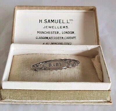 Antique sterling silver brooch