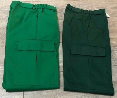 LADIES LIGHT GREEN TROUSERS Salon Hospital NHS// Work scrubs etc SIZE 10-12