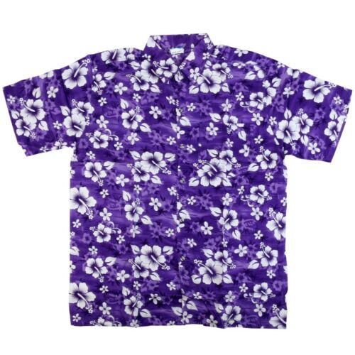 FLORAL HAWAIIAN SHIRT XXXL Loose Fit Button Up Printed Summer Beach Holiday UK