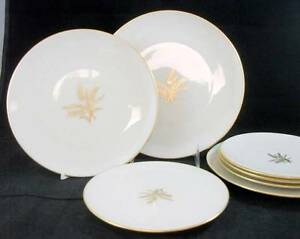 Lenox-WHEAT-Luncheon-Plate-2-Salads-4-Bread-plates-R442-GREAT-VALUE-used