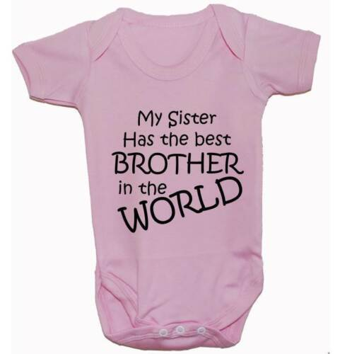 Babygrow Bodysuit Romper Vest T-Shirt Worlds Best Brother Newborn-24m Funny Gift