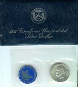 1973-S-Silver-Eisenhower-Ike-Dollar-Blue-Pack-Original-US-Mint-Packaging