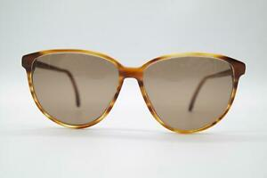 Vintage-Rodenstock-Nicola-8013-Braun-Oval-Sunglasses-Glasses-NOS