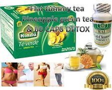 Flat Tummy Tea + COLON Detox Weight Loss Herbal Skinny Cleanse PINEAPPLE TEA
