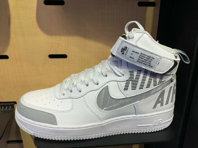 NIKE AIR FORCE 1 '07 LV8 HI UNDER CONSTRUCTION WHITE Size 8 13 New CQ0449 100 DS