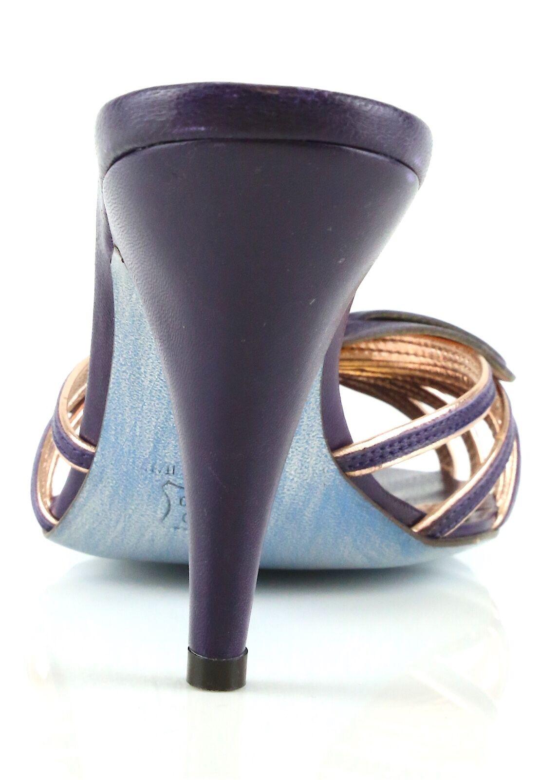 Jean-Michel Cazabat lila Leather Bow Slip Slip Slip On Heels 8938 Größe 36 EU NEW 1e9327
