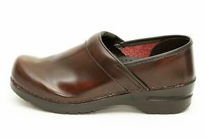 Sanita-Womens-Brown-Leather-Clogs-Shoes-Size-8-8-5