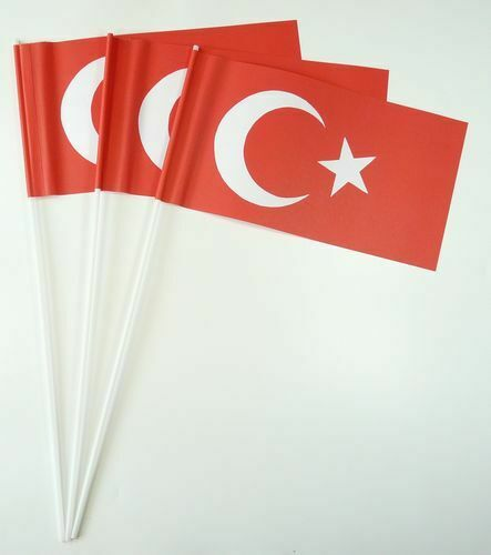 Papierfahnen Türkei Papierfähnchen Flagge Fahne