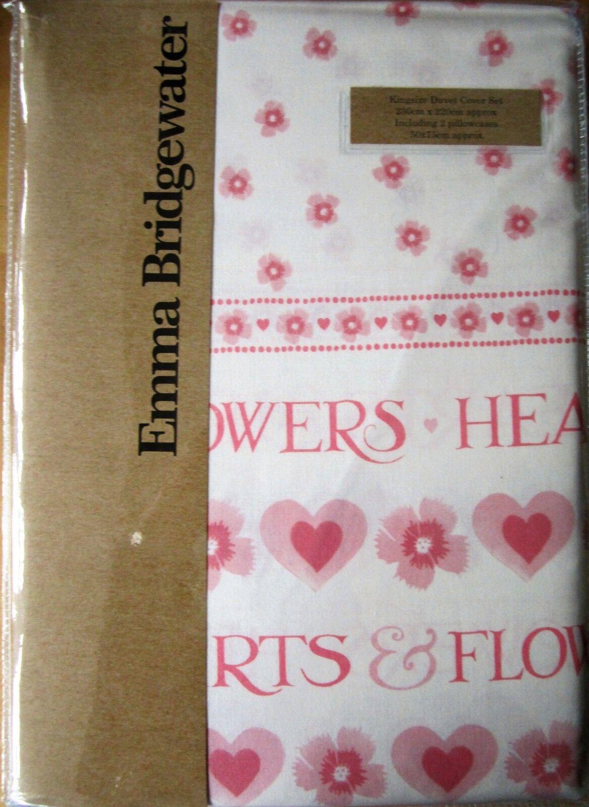 EMMA BRIDGEWATER KING Größe Duvet Duvet Duvet Cover Set HEARTS AND FLOWERS New 100% Cotton c139d9