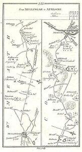 Antique-map-Roads-from-Mullingar-to-Athlone-Mullingar-to-Trim