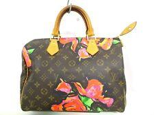 Authentic LOUIS VUITTON Monogram Rose Speedy 30 M48610 Handbag SP4048