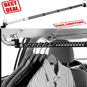 Details About Car Clothes Bar Rod Rack Hanger Hanging Truck Suv Storage Organizer Vehicle Auto