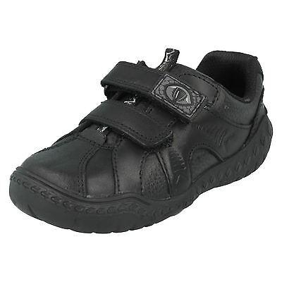 Clarks Boys Stomp Roar Leather  School Shoes H Fitting Size UK 2 1//2 G