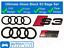 Audi-S3-Gloss-Black-badge-Anneaux-Grille-Badge-Coffre-Embleme-Ultimate-Kit miniature 1