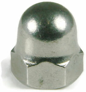 Stainless Steel Cap Acorn Hex Nuts UNC #6-32, Qty 50
