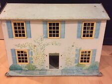 Vintage Metal Dollhouse Blue Yellow As Is