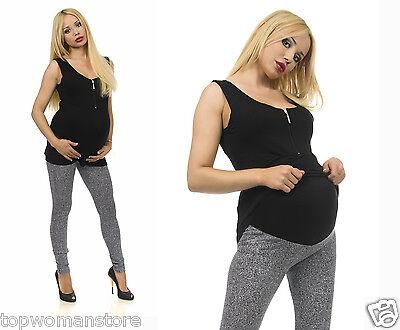 Original Maternity Cotton Grey Leggings Over Bump Pregnancy Clothes All Size Warmes Lob Von Kunden Zu Gewinnen