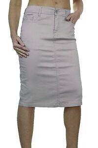 Ladies Plus Size Stretch Chino Jeans Style Skirt Silver Grey 12-24 2516-4 Ehrlichkeit New