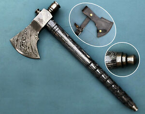 Details about CUSTOM HANDMADE AXE FORGED DAMASCUS STEEL FUNCTIONAL SMOKE  PIPE TOMAHAWK HATCHET