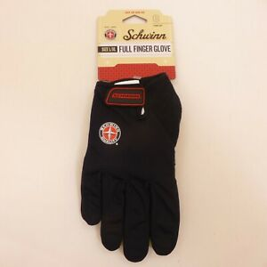 Schwinn-Adult-Large-XL-Full-Finger-Black-Padded-Bicycle-Cycling-Gloves