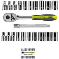 Evolv 22 Pc 1/4 Inch Drive Tool Set Standard Metric Sae Ratchet Socket Craftsman