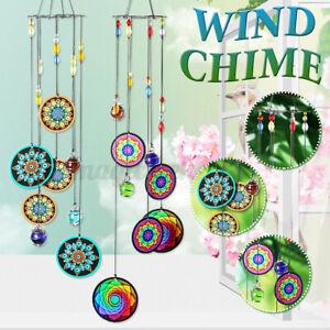 """16"""" Metal Outdoor Hanging Wind Chimes Bell Ornament Garden Indoor Home Deco"""