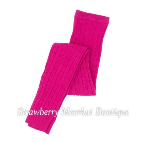 NUOVO Ragazze Designer Hatley Senza Piedi Cavo Lavorato a Maglia Collant Velvet Petalo Rosa 4-5 6-7 8