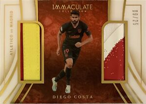 2020/21 Panini Immaculate Soccer - Diego Costa Card - Atletico Madrid #09/25