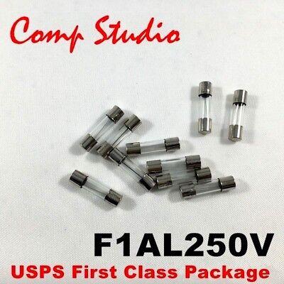 8 amp F8A 4 pcs F8AL Fast-Blow Fuse 8A 250V Glass Fuses 5 x 20 mm