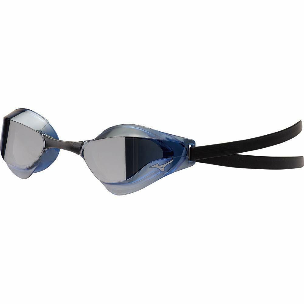 Mizuno Japón Swim-Swimming Goggle Gx Sonic Ojo J Fina Plata Azul N3JE9001