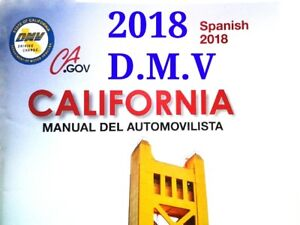 Details about SPANISH 2018 California DMV Driver Handbook to your door ONLY  $4 95 Hassle free