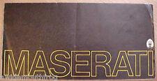 Maserati Bora, Indy 4900, Merak Sales Folder English / Italian Text