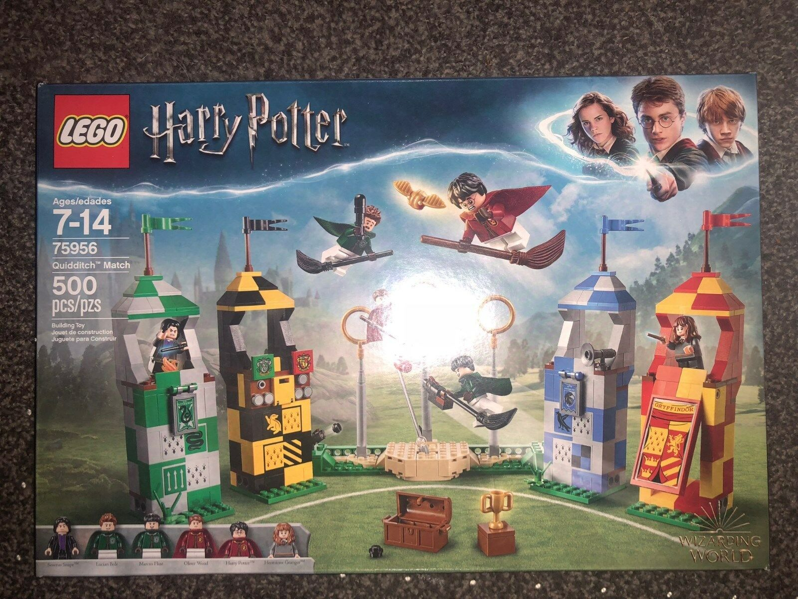 LEGO 75956 Harry Potter Quidditch Match (with 6 minifigs) minifigs) minifigs) 2018 NEW SEALED  d66cc5