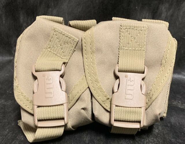 UTG PVC-M508T Web Systems Grenade Pouch w/ Patterned Quick Release Buckles