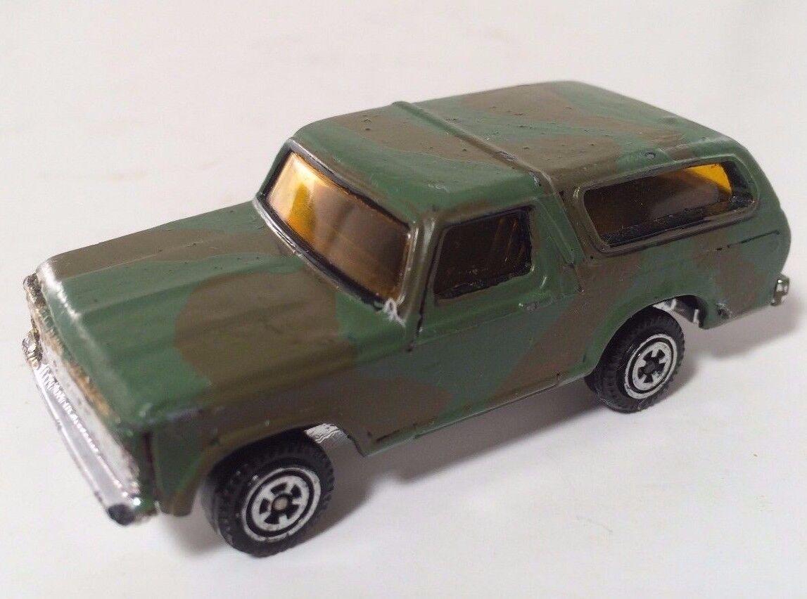 K-Mart Kidco campeón de carretera Ford Bronco Camo 1979 Muy Raro 1 64 Camión