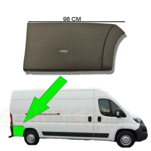 Fiat Ducato Moldeo Tira de la rueda trasera protectora de plástico Recortar Derecho O//S 2006 en