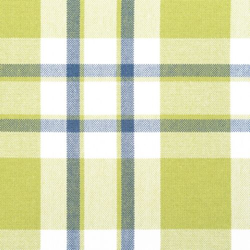 Fern Green and Navy Blue Gingham Check Curtain Fabric Roman Blind Cushion by m
