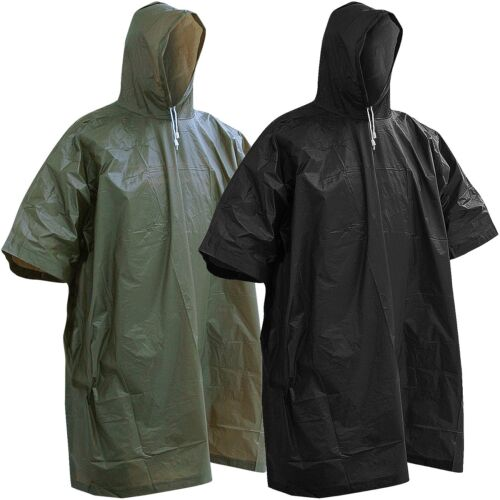 Regenponcho Regen Poncho Oliv Schwarz Regen-Umhang Cape BW Army Regenschutz NEU