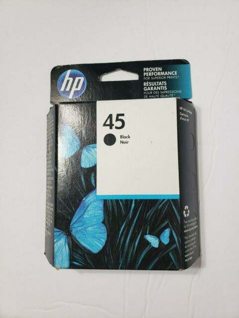 GENUINE HP 45 INK BLACK 51645A, FACTORY SEALED Expired Aug 2015