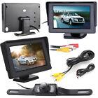 4.3'' LCD Monitor Car Reverse Rear View Parking Back Up Camera Kit Night Vision