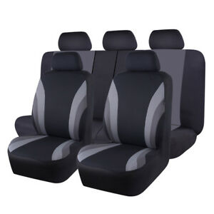 Universal-Car-Seat-Covers-Black-Grey-For-Fit-Sedan-Truck-SUV-Honda-Holden-VW-Kia