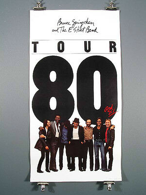 BRUCE SPRINGSTEEN  RARE 1980 TOUR POSTER  25 3/4 X 47 1/2 ORIGINAL AND MINT