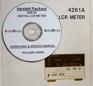 Details about HP 4261A Digital LCR Meter Operating & Service Manual