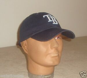 Tampa-Bay-Rays-Unstructured-Blue-Baseball-Hat-New-MLB-Cap-Adult-One-Size