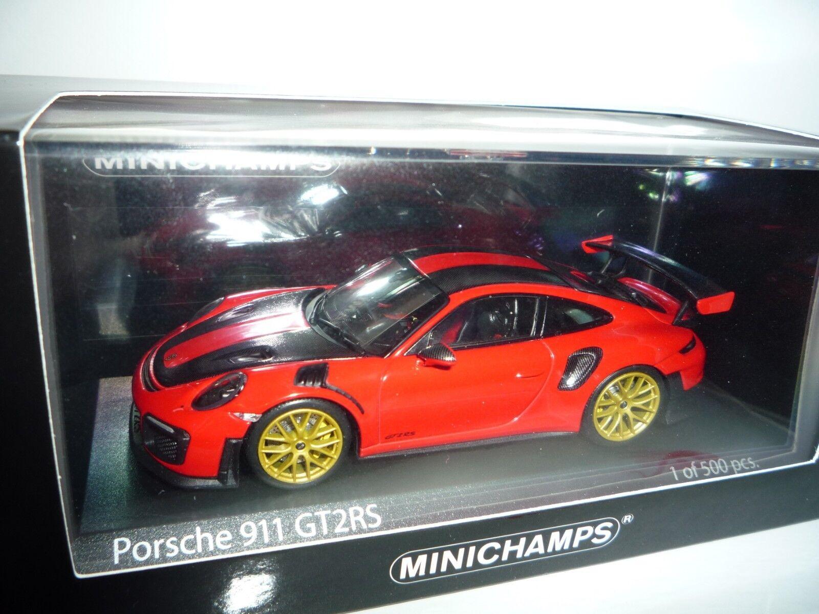 Porsche 911 gt2 rs 2018 Weissach Package lavaarancia 1 43 Minichamps 410067224