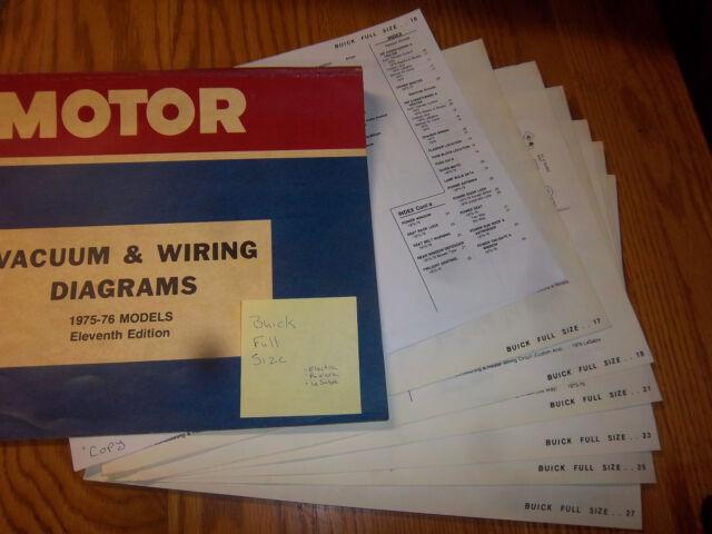1975 buick lesabre riviera electra 75 general motors wiring guide rh ebay com