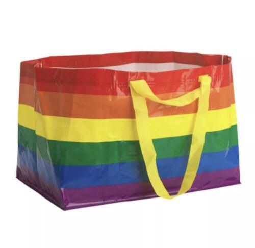 2 Retired IKEA Rainbow XLarge Shopping Bag Free Shipping