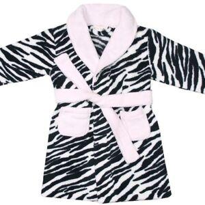 5888a7a495 Das Bild wird geladen Baby-Town-Baby-Bademantel-Kuschelweich-Zebra-Design- Kinder-