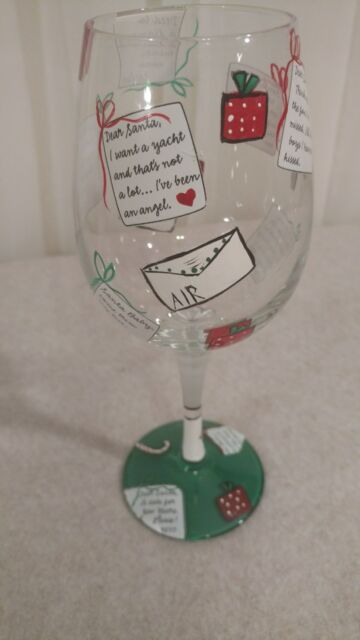 Lolita DIVORCE Hand Painted Wine Glass recipe on bottom New with tag